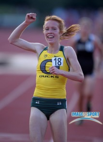 Allie Woodward wins the 5,000 meters at the World Junior Championships