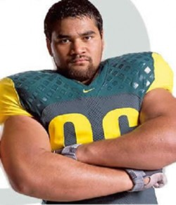 Haloti Ngata was a massive imposing force at Oregon around 340 for much of his career