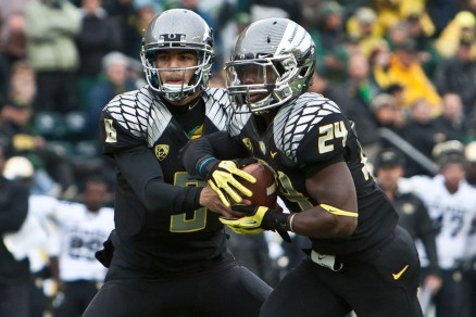 Kenjon Barner rushed for over 1,700 yards in 2012, marking the sixth straight season the Ducks' had a 1,000-yard rusher.