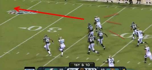 Jordan Todman -- 8 yard total rushing in 2012, 63 on this play