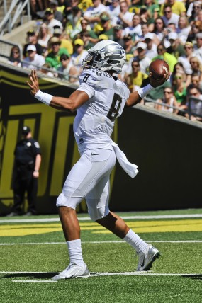 Marcus Mariota in early action Saturday