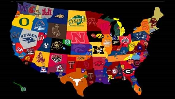 How a college football fan views a map.
