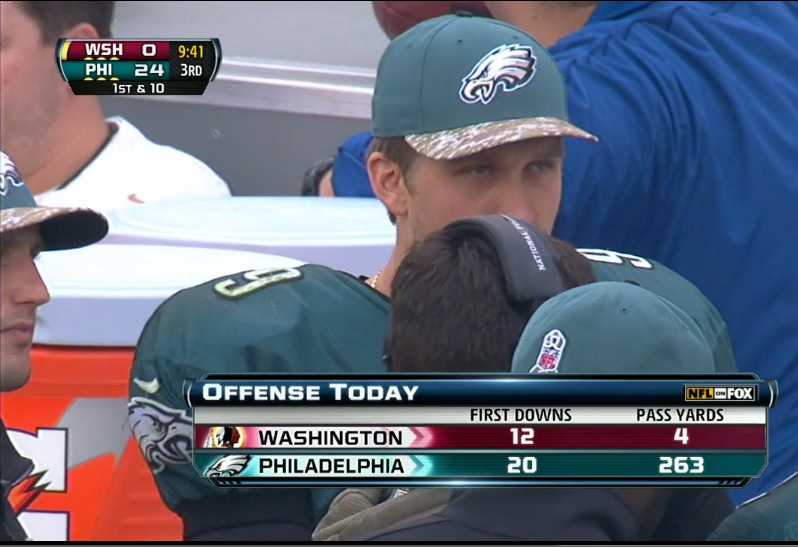 Foles stats v Washington
