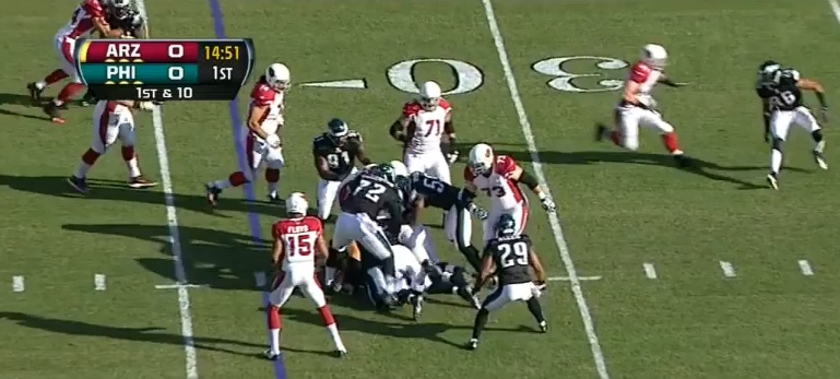 There's an AZ running back under there