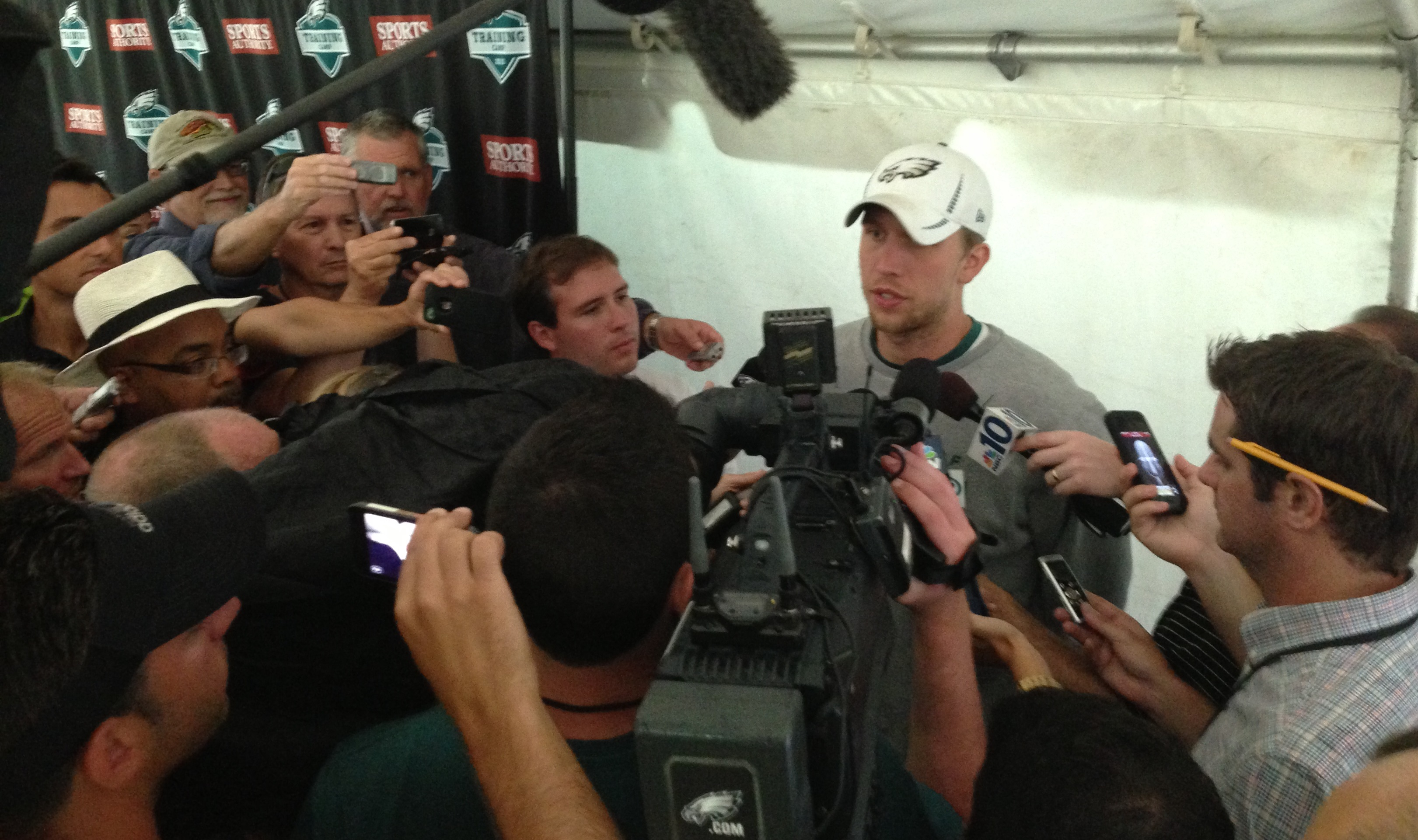 Nick Foles meets the press