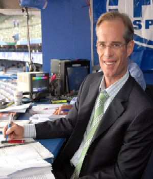 HI, I'm Joe Buck and you are looking live at my incredibly high forehead.