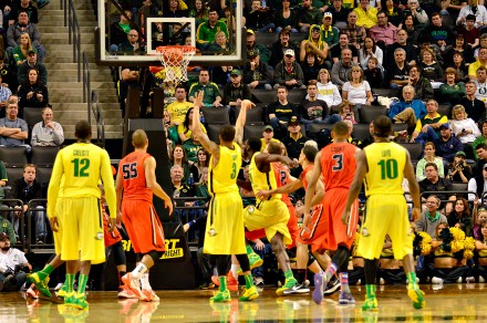 The Ducks are 1st in the Pac in free throw percentage.