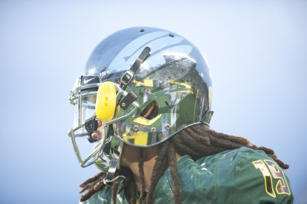 One of the many Oregon helmets