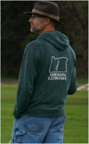 Coach Lou Burruss of the UO Women's Ultimate Frisbee team/