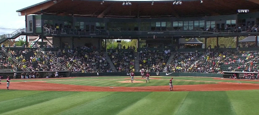 Oh the splendor of PK Park and College Baseball.  Beat USC!