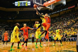 Oregon Ducks defend Matthew Knight Arena against the OSU Beavers