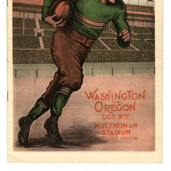 Cover of program for Oregon vs. Washington, 1926