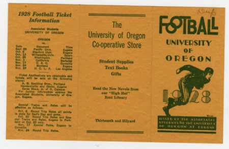 1928 Oregon Football Schedule