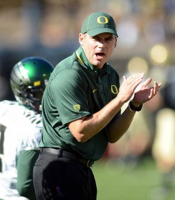 Coach Mark Helfrich leading the way