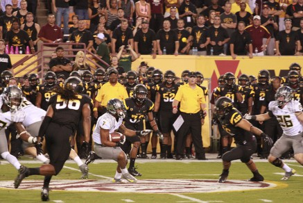 Playing capture the Duck at ASU in 2012.