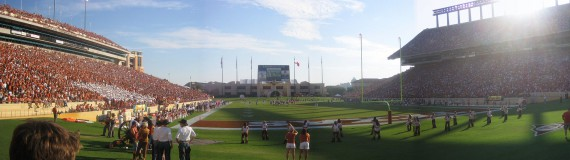 Panorama of Darrell K. Royal-Texas Memorial Stadium