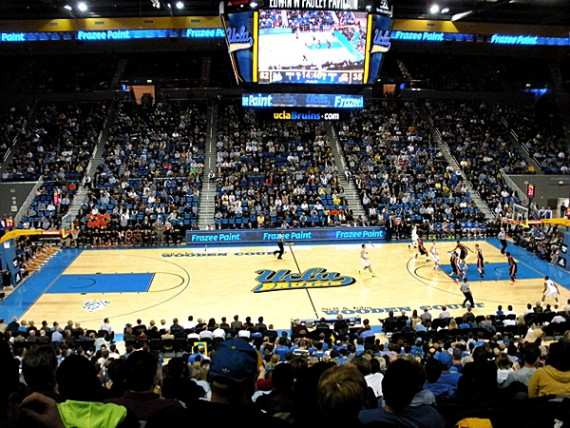 Interior of Pauley Pavilion