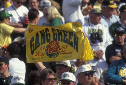 "The 1994 ""Gang Green"" Oregon Ducks."