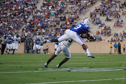Jamison Crowder is a small, but explosive threat for Duke.