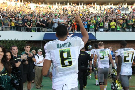 Mariota's career at Autzen is officially done.