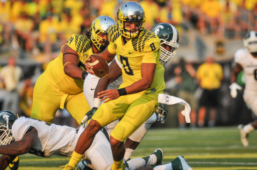 Just how good was Mariota? Well, apparently, about 31 points better than his replacements.