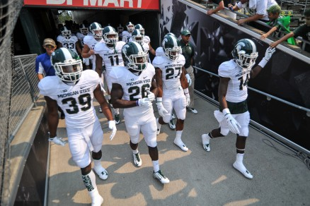 Michigan State is hoping a few one-loss teams lose again for a better chance to make the College Football Playoffs.