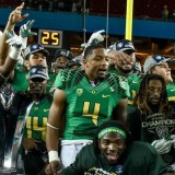 One moment that every Duck fan loves to see happen. Pac-12 Champs.