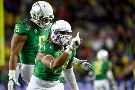 DeForest Buckner and Erik Armstead lead a surging Duck defense into the Rose Bowl.