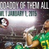 It's going to be an exciting game to say the least. If the Ducks O-line could withstand the Seminoles defensive power, Oregon is going to be celebrating like they did in 2012.
