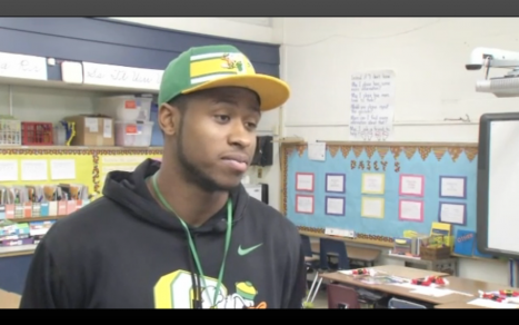 French in an interview at Wright Elementary