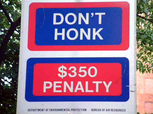 I was once fined $350 for honking the horn on my 1974 Dodge Dilemma