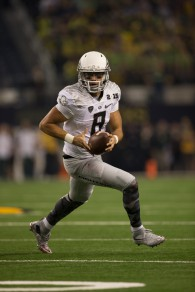 Marcus Mariota in his last game as an Oregon Duck.