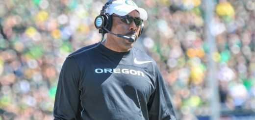 Oregon Defensive Coordinator Don Pellum during the Wyoming game