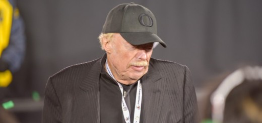Phil Knight after the Oregon's big win in the Rose Bowl game.
