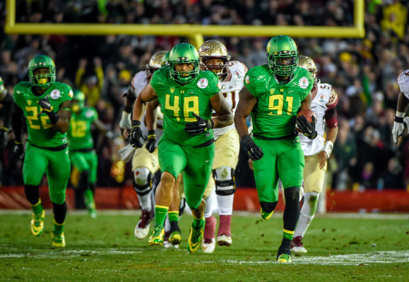 Tony Washington for the Scoop-n-score in the Rose Bowl this season.
