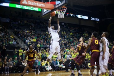Young players like Jordan Bell have stepped up this year to fill big voids for the Ducks.