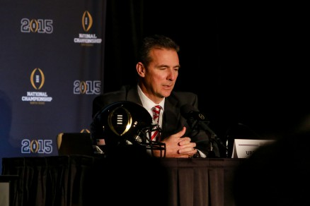 """Ohio State head coach Urban Meyer has """"tremendous respect for really Eugene, Oregon, the way they've handled their business, and the way they coach, obviously."""""""