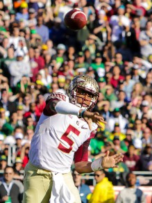 "Florida State got its yards but had trouble scoring against the Ducks ""D."""