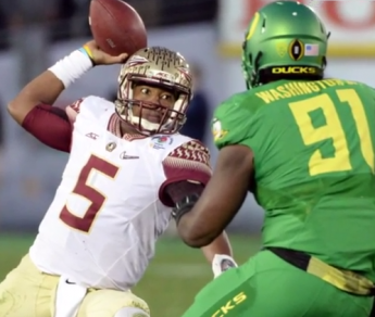 """FSUs Winston says Ducks """"never stopped"""" the Seminoles during Oregons rout of the Seminoles, 59-20."""
