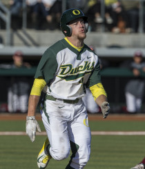 Transfer student Phil Craig-St. Louis is a big bat for the Ducks