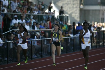 Prandini in last year's NCAA Track & Field Championship match.