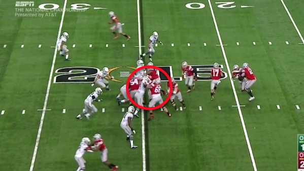 """Blocking """"down"""" or inside is easy for Ohio State."""