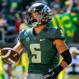 Saturday Sept. 13: Oregon Ducks WR Devon Allen scores a touchdown in the 48-14 win over the Wyoming Cowboys