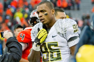 Despite both being Oregon defensive Lineman, Arik Armstead is not Dion Jordan.