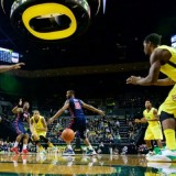 Oregon #23 Elgin Cook, #3 Joseph Young, #14 Ahmaad Rorie  Old Miss #10 LaDarius White #1 Martavious Newby#34 Aaron Jones