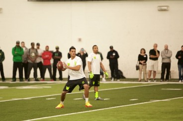 Marcus Mariota at Oregon's Pro Day.