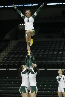 Stunt work from UO Acrobatics and Tumbling