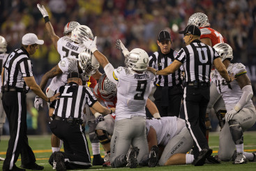 Arik Armstead at the national championship.