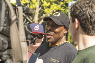 Don Pellum is one of the longest tenured coaches on the Oregon coaching staff.