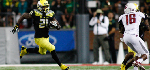 Royce Freeman 26, WSU,14,GB